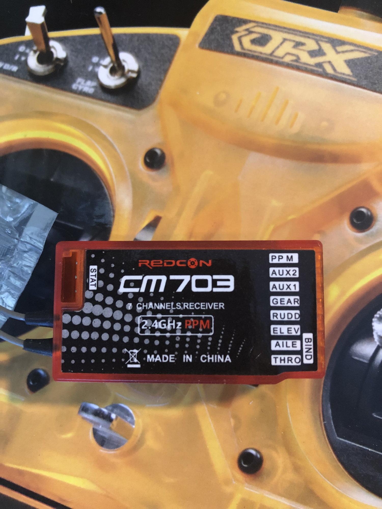OrangeRx 6ch dsm2 transmitter & Redcon cm703 7ch dsmx receiver - RCU