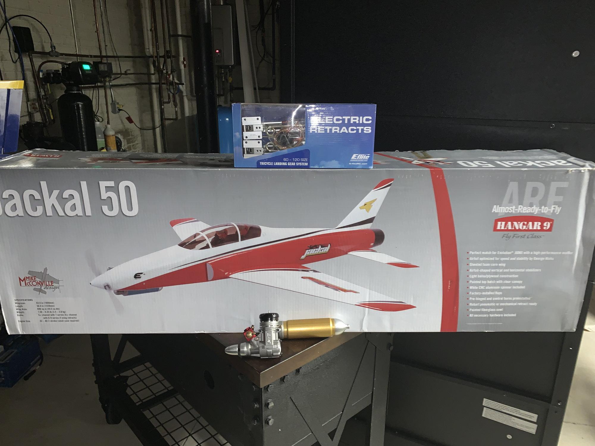 NIB Jackal 50 Package - Jackal ARF, Jett  56 Sport Jett, Eflight