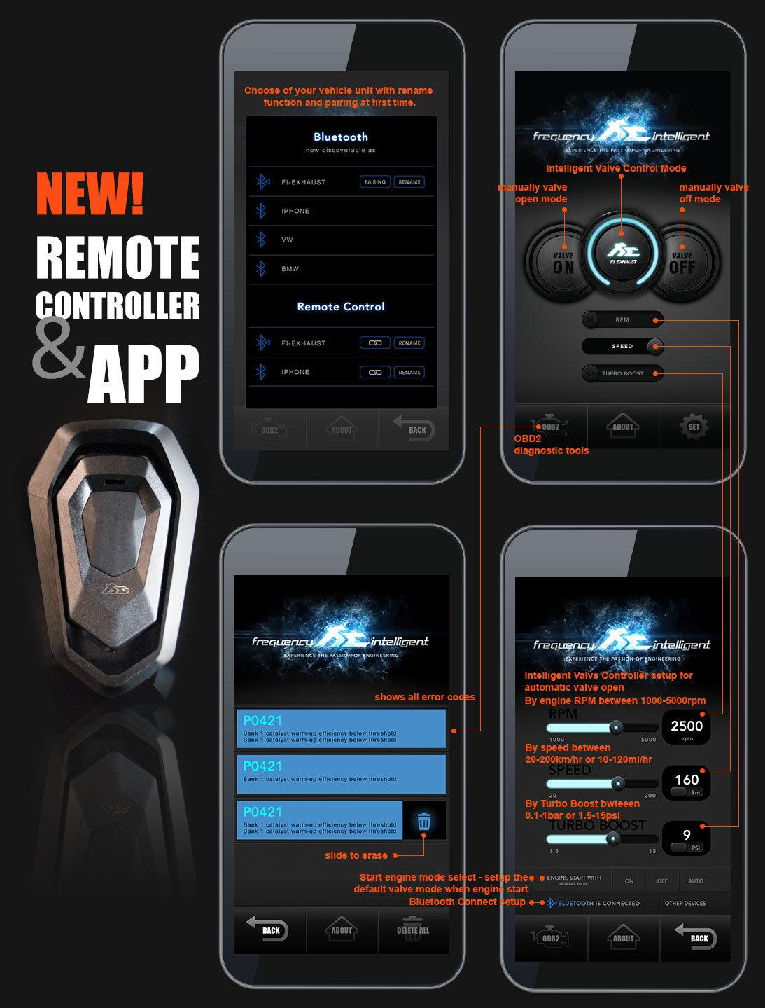 Fi Exhaust l Mercedes-Benz W204 C300 l Remote & APP