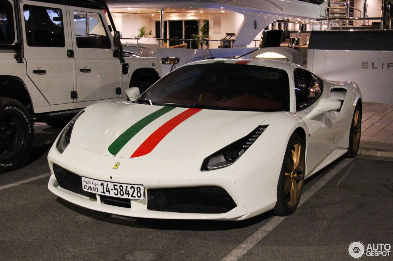What A Terrific Spec On This Ferrari 488 GTB Along With The Land Rover  Defender Both From Kuwait. A Photographer Known As JeffreyD Car Photography  Spotted ...