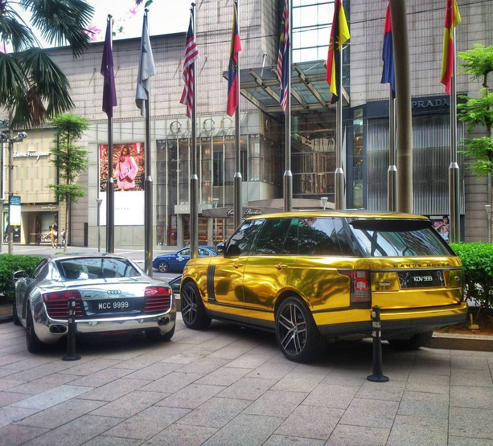 Warren Henry Range Rover >> Malaysia Supercars: Gold Range Rover Autobiography & Audi R8. - Teamspeed.com