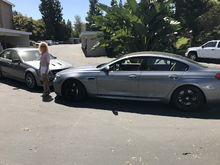My wife saying good bye to her MB C63 with 507 HP and saying hello to her new BMW M6 Gran Coupe w/ Competion Package and ceramic brakes with 600 HP. She has been to the AMG Driving Academy as well as the BMW M School. Watch out for her at a stop light ...  Kapdan