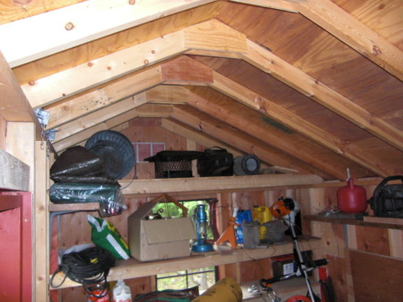 inside shed roof