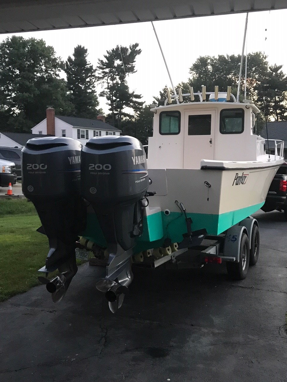 2001 Parker 2520dv Twin Yamaha F200 S For Sale Reduced