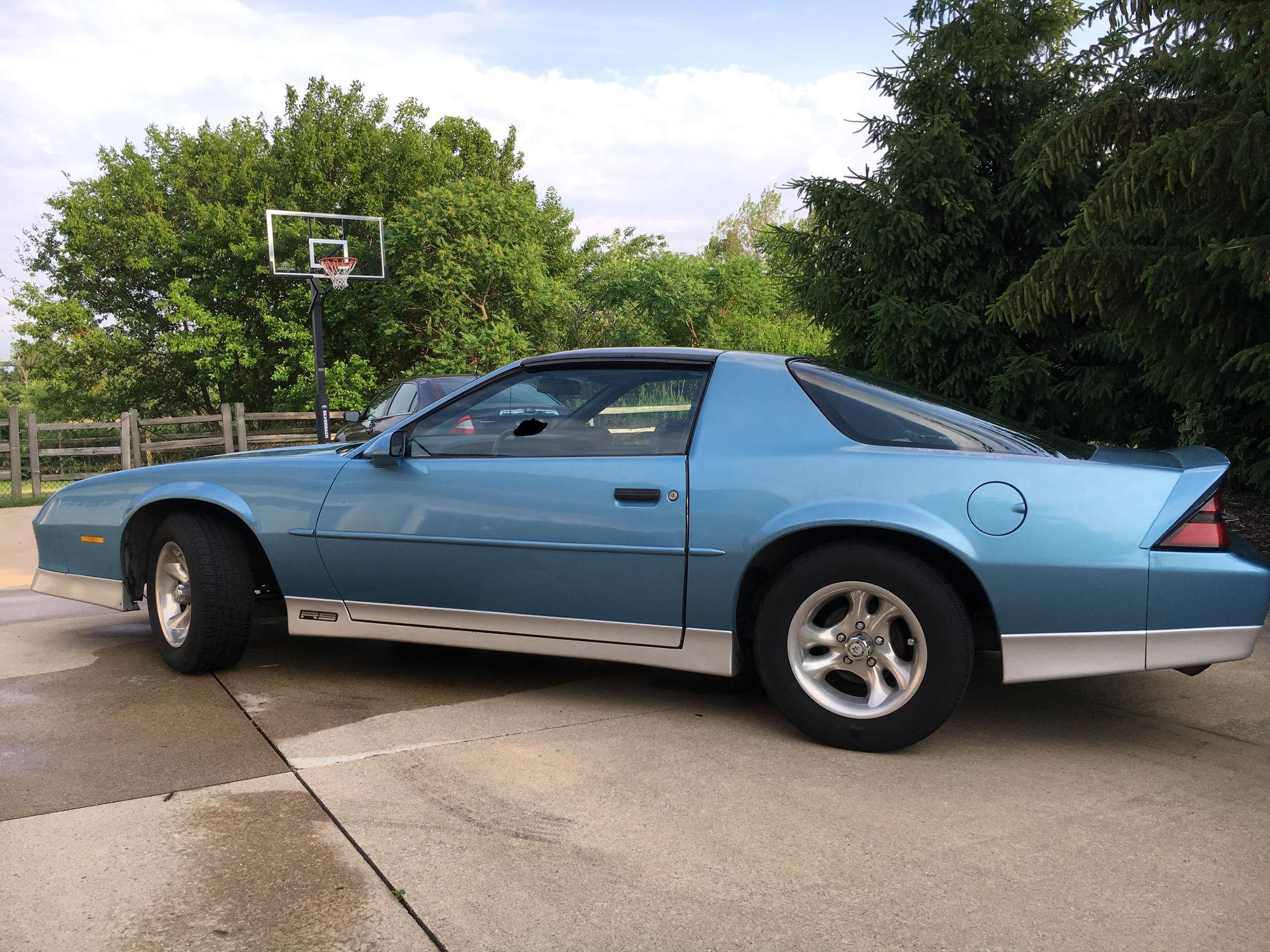 Michigan 1989 Blue Camaro Rs T Tops Third Generation F