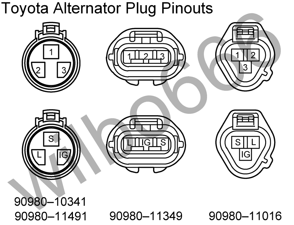 Help   U0026 39 02 Sequoia Alternator Plug