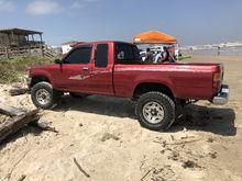 My truck loves the beach