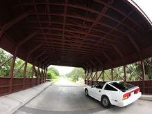 Coral Springs covered bridge fisheye
