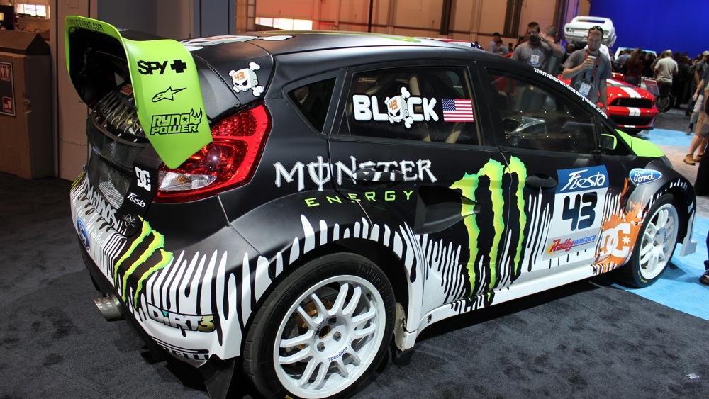 2010 SEMA: Ken Block's Gymkhana THREE ford Fiesta live photos