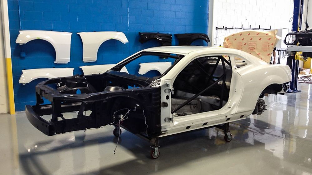 2012 Chevrolet COPO Camaro drag race car. Images via The Block.