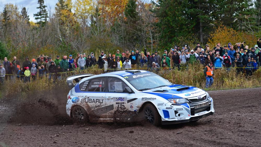 David Higgins and Subari clinch third consecutive Rally America championship.