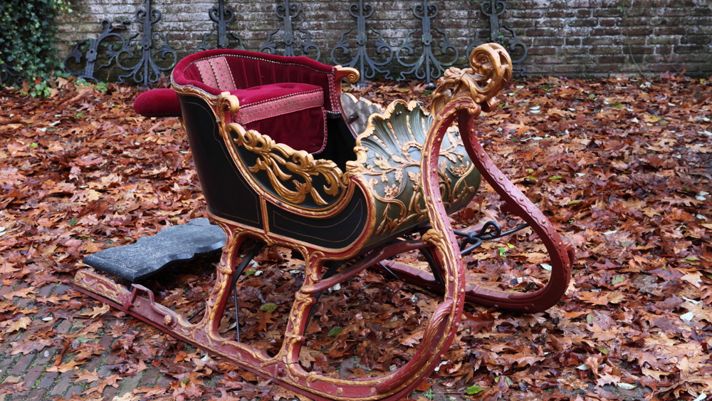 18th century sled, Bonhams Carriage Collection Sale