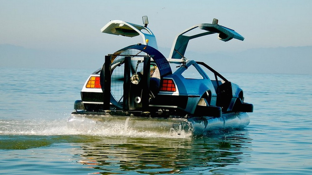 DeLorean hovercraft by Matthew Riese, a.k.a. David Lorean.