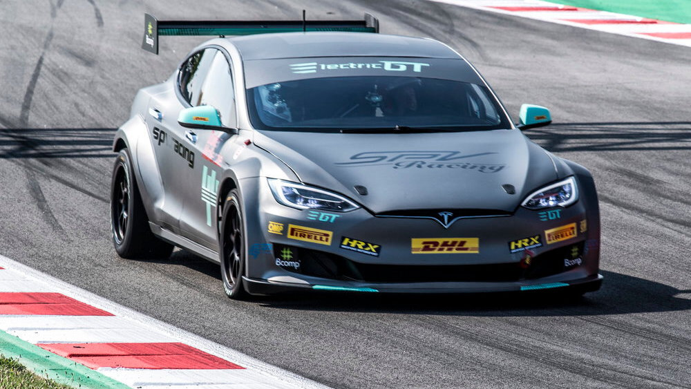 EPCS Tesla Model S P100D electric race car