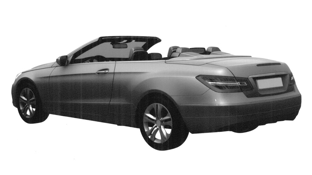 2011 Mercedes-Benz E-Class Cabrio patent design leak