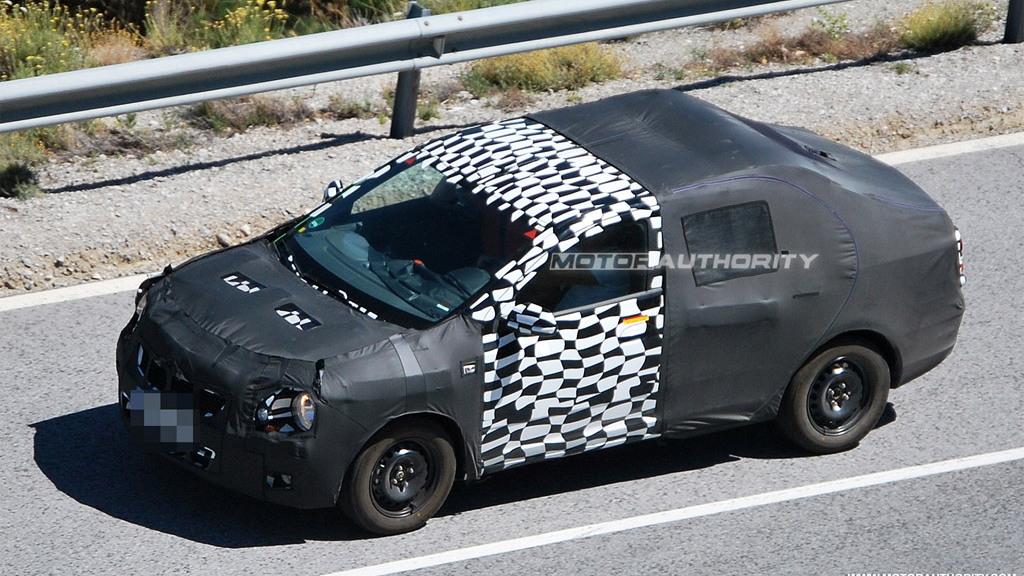 2012 Chevrolet Aveo Sedan spy shots