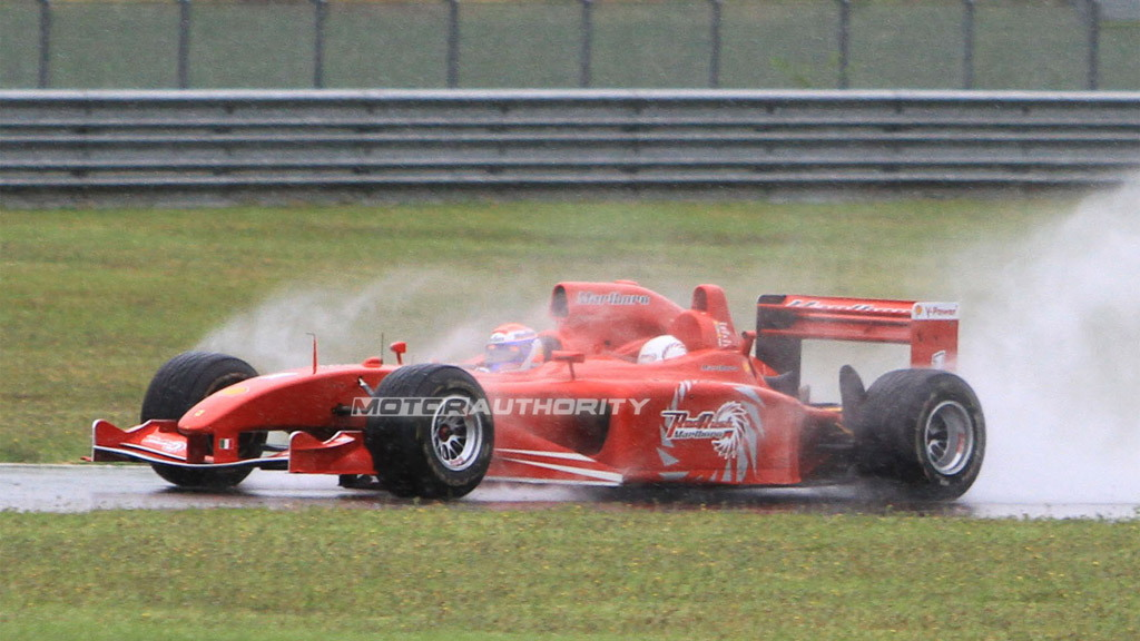 Ferrari Red Rush three-seater F1 car spy shots