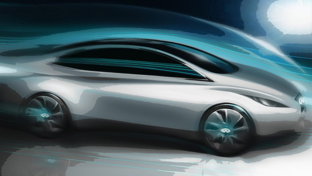 Teaser for Infiniti luxury EV due in 2013