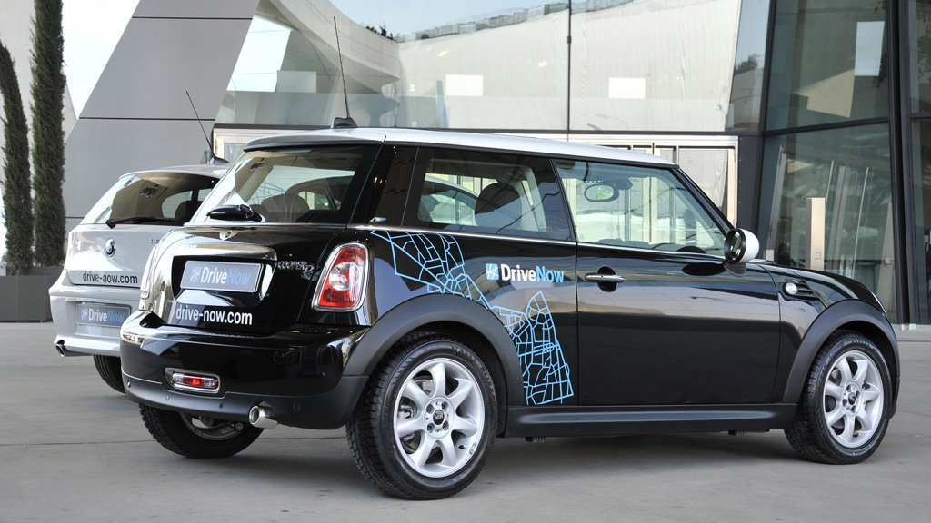 BMW using 1-Series and MINI Cooper in DriveNow initiative