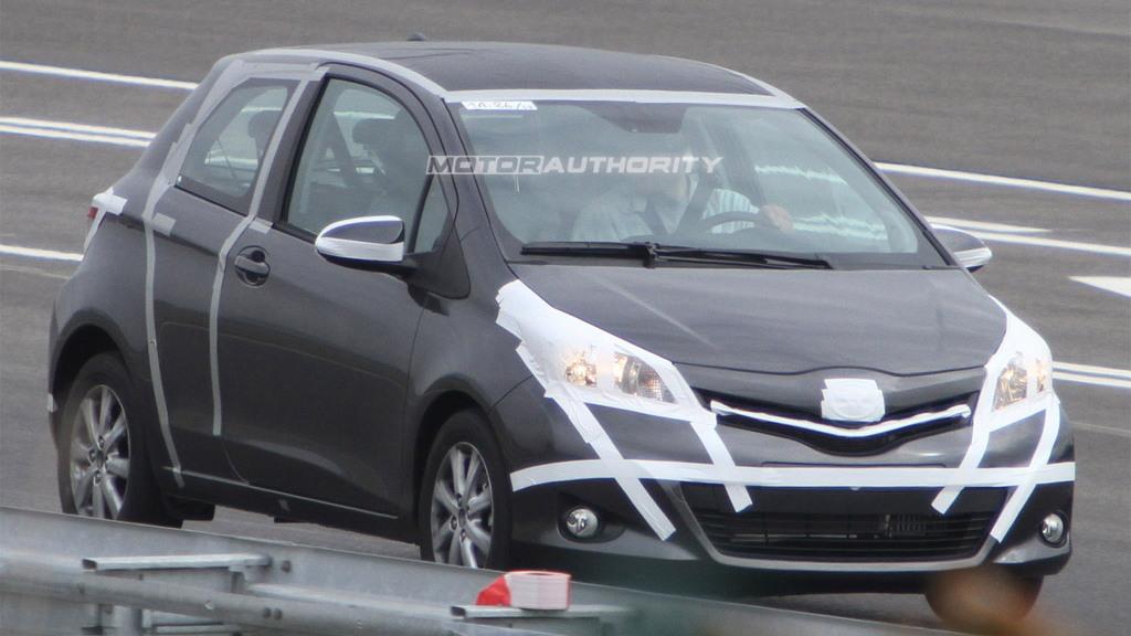 2012 Toyota Yaris three-door spy shots