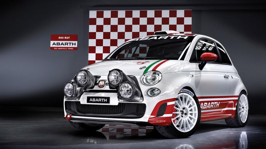 Fiat 500 Abarth rally car