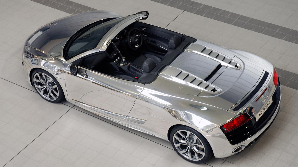 Chrome Audi R8 Spyder V-10 will benefit Elton John Aids Foundation