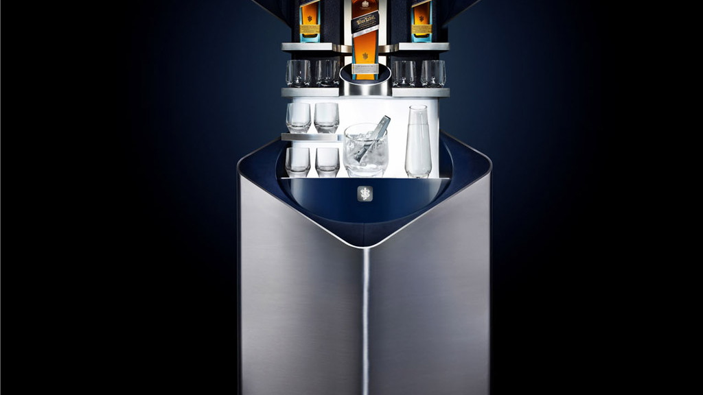 Porsche Design Johnnie Walker Blue Label private bar