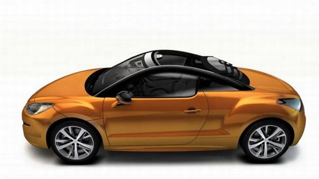 Magna Steyr View Top sliding roof concept previewed on the Peugeot RCZ