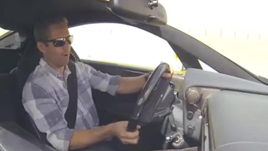 Paul Walker behind the wheel of a Lexus LFA