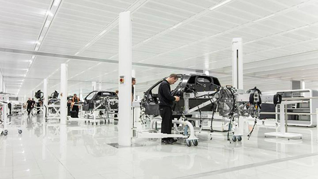 First P1s under construction at the McLaren Production Center