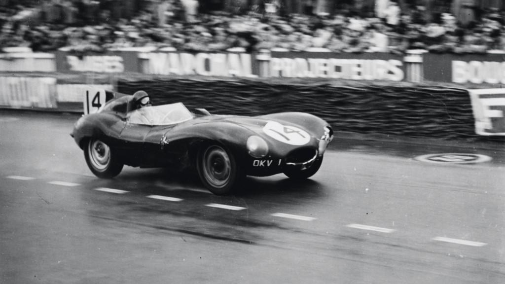 1954 Jaguar D-Type at Le Mans