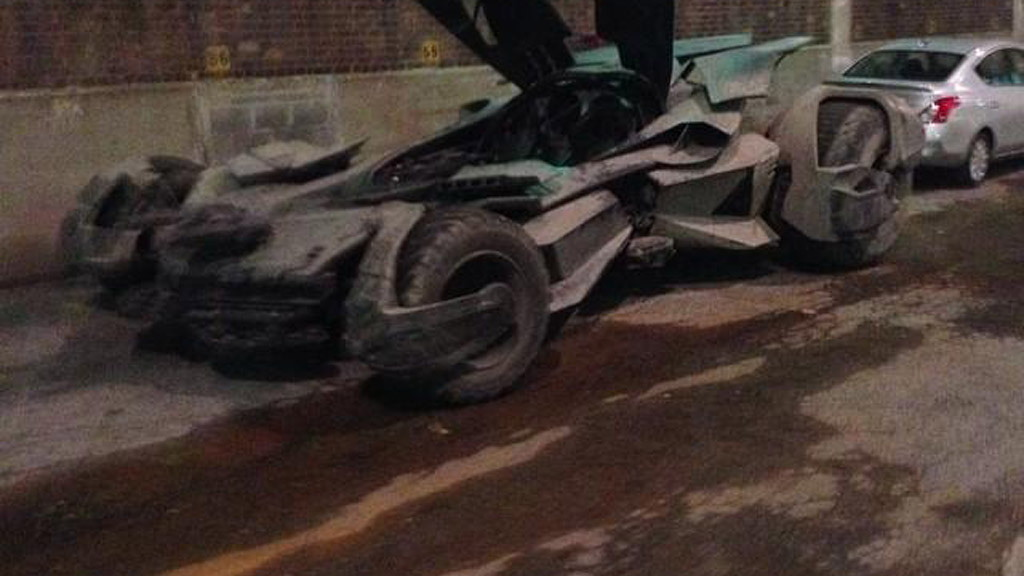 Batmobile from Batman v Superman: Dawn Of Justice (Image via Instagram user amacro13)