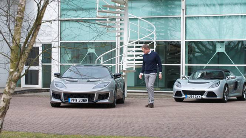 Daniel Craig lookalike at Lotus headquarters in April Fools' Day prank