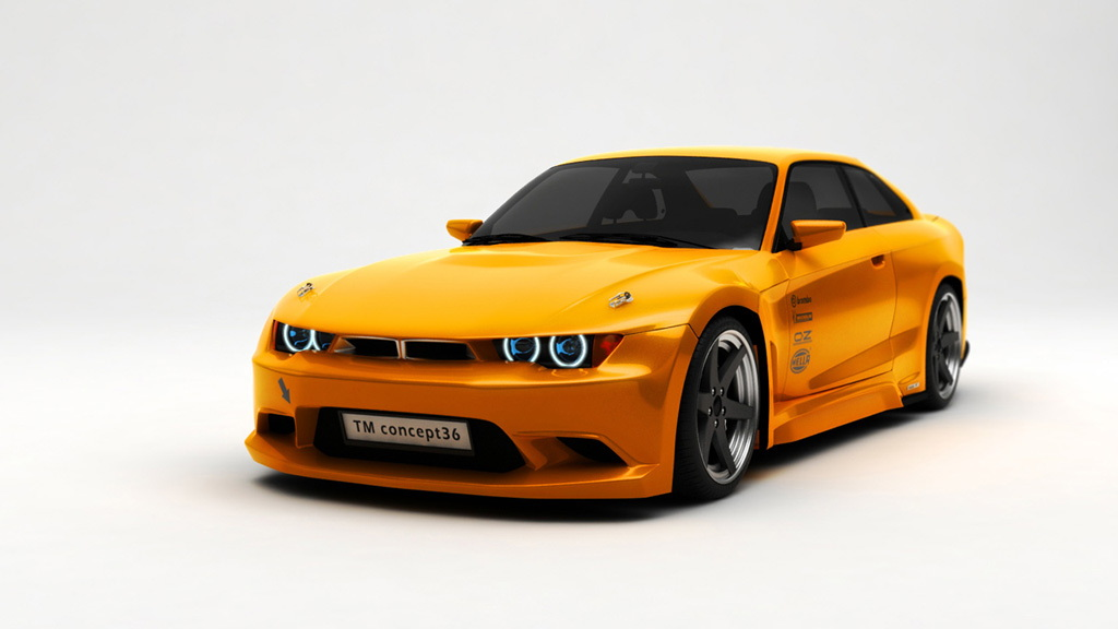 TMCARS TM Concept36 based on the E36 BMW 3-Series Coupe - Image via Serious Wheels