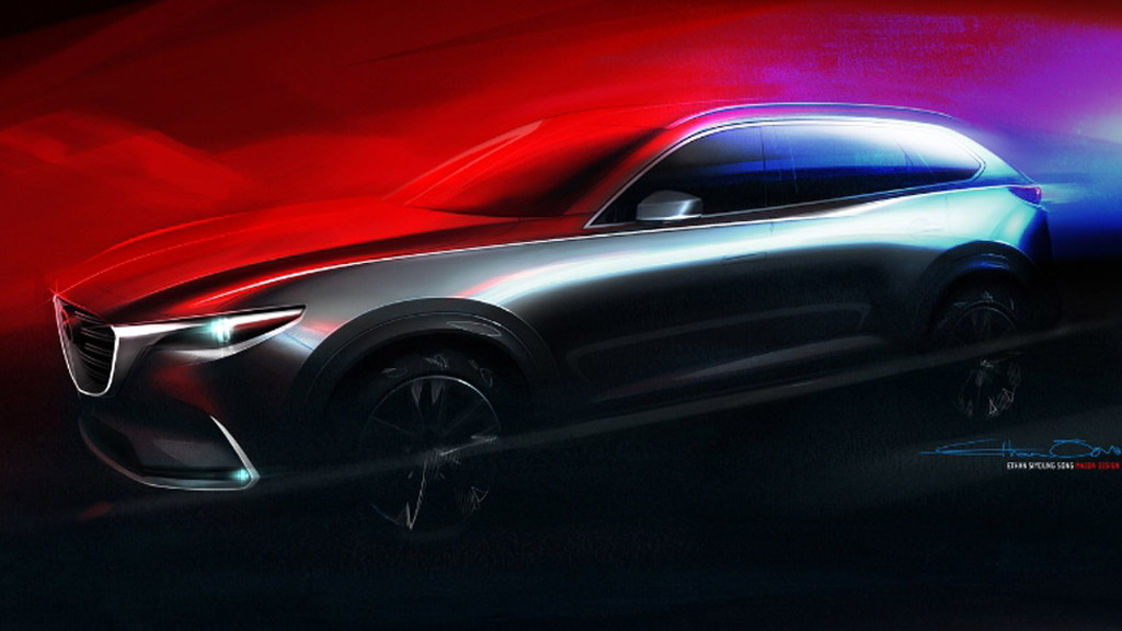 Teaser for 2016 Mazda CX-9 debuting at 2015 Los Angeles Auto Show