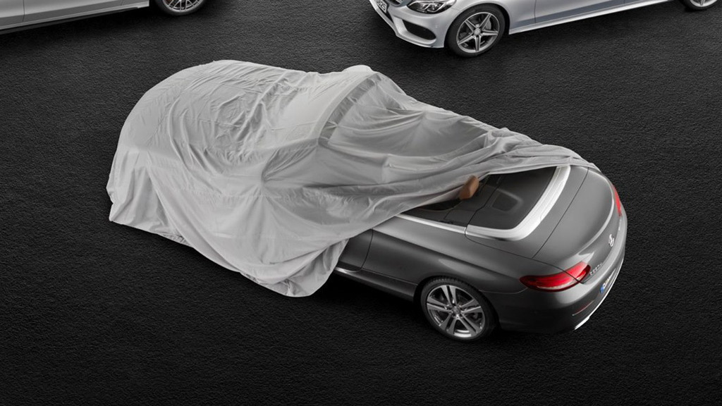 Teaser for 2017 Mercedes-Benz C-Class Cabriolet debuting at 2016 Geneva Motor Show