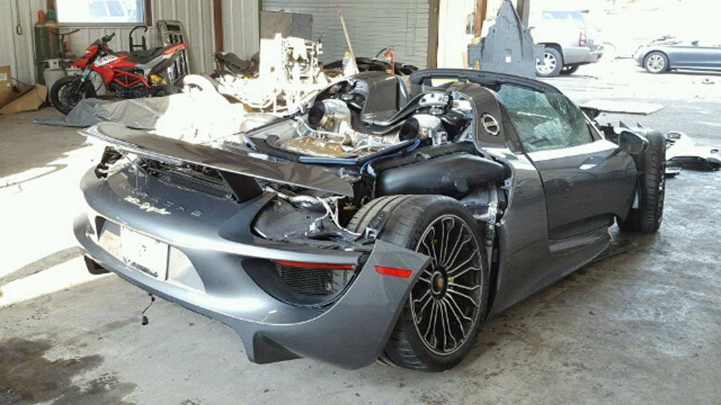 Porsche 918 Spyder Turns Up At Salvage Auction