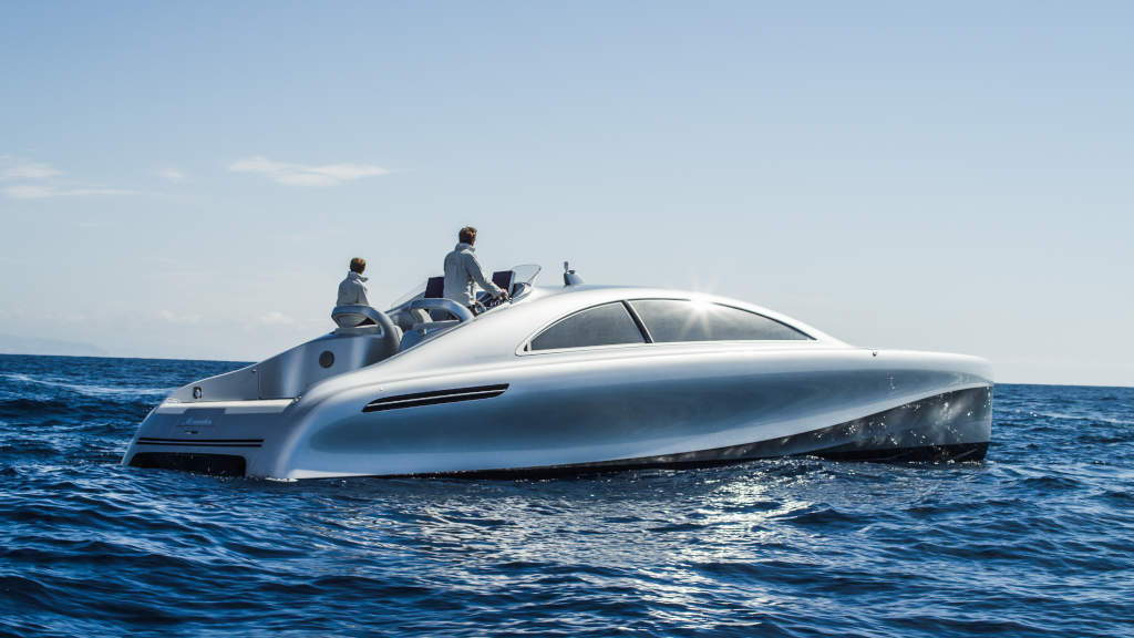 "Mercedes-Benz Style ""Silver Arrow of the Seas"""