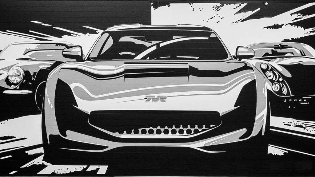 Teaser for TVR sports car debuting at 2017 Goodwood Revival