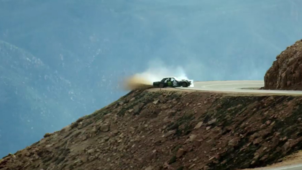 Scene from Ken Block's Climbkhana Pikes Peak