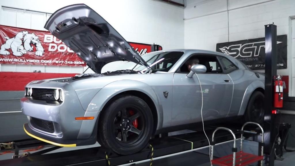 2018 Dodge Challenger SRT Demon on a dyno