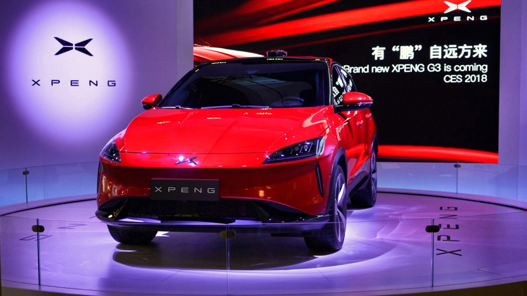 Chinese electric car startup Xpeng shows G3 SUV at 2018 CES