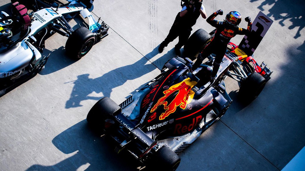 Red Bull Racing's Daniel Ricciardo at the 2018 Formula 1 Chinese Grand Prix