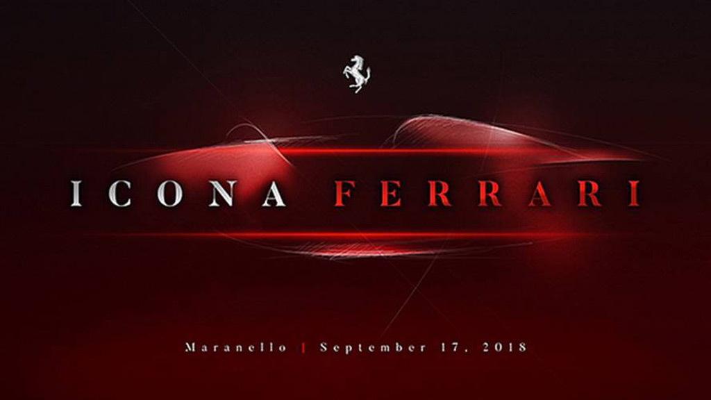 Teaser for new Ferrari debuting on September 17, 2018