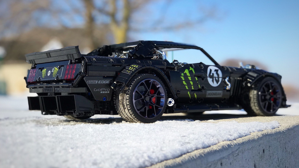 Ken Block's Hoonicorn Ford Mustang as a Lego kit, Photo: IachIan Cameron