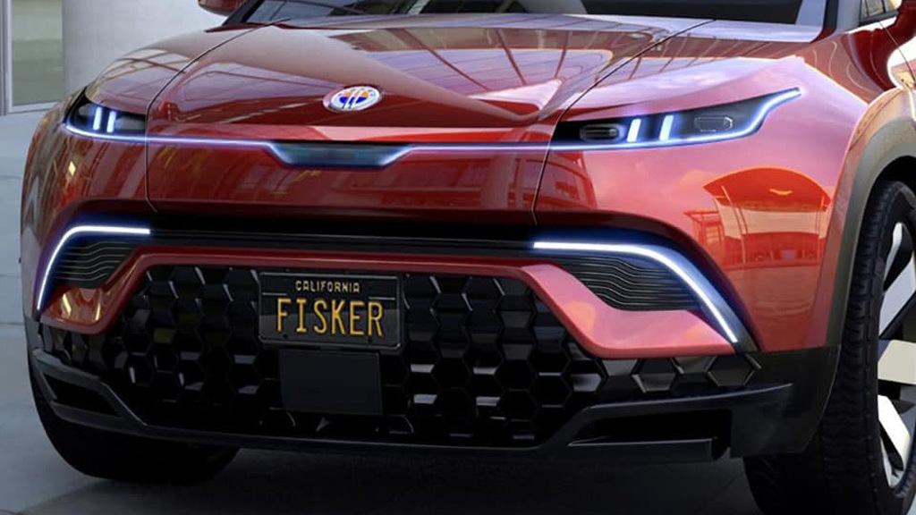 Teaser for Fisker Ocean electric SUV
