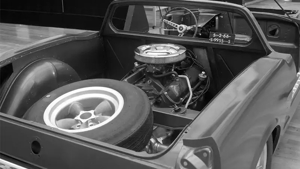 Mid-engine 1966 Ford Mustang - Photo credit: John Clor/Ford