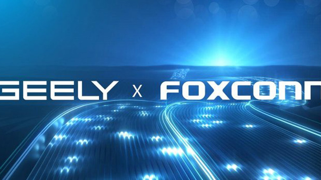 Geely and Foxconn logos