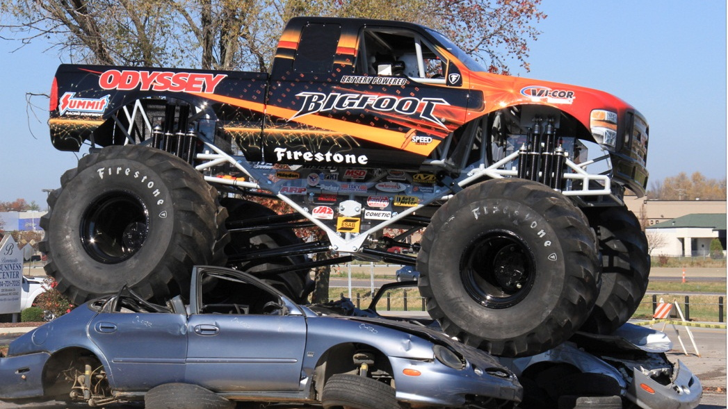 Odyssey Battery Bigfoot No. 20 Monster Truck -- world's first all-electric monster truck