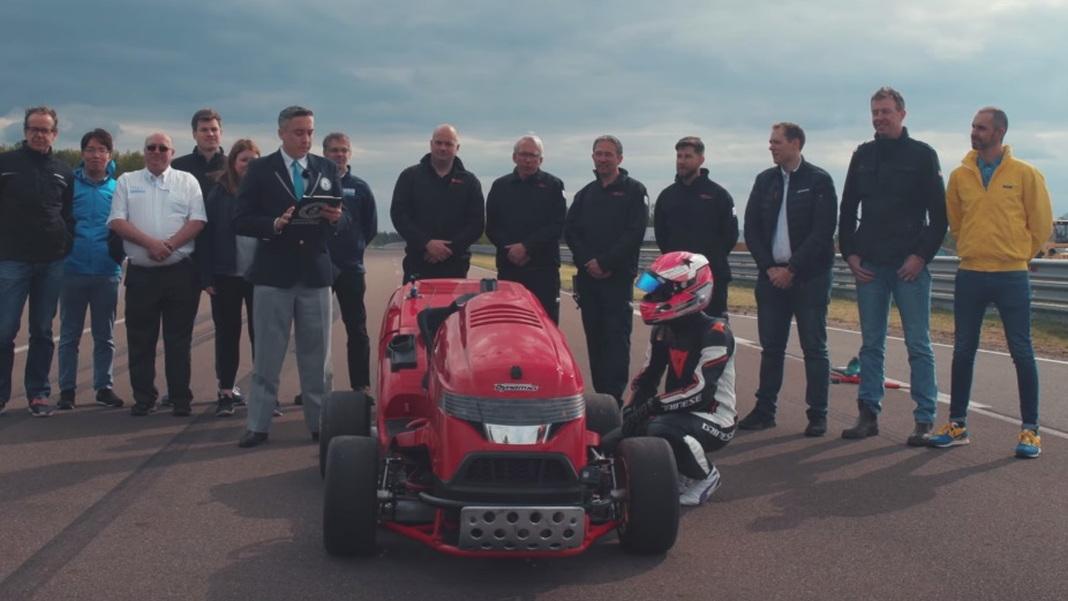 Honda Mean Mower Mk2 0-100 mph world record